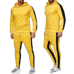 Zogaa 2019 New  Men Sweat Suit Set Gyms Bodybuilding Workout Clothing Two Piece Set Outfits for Man Sportwear Casual