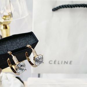 venda forma redonda quente com pequeno e um grande diamante brilhante para as mulheres de jóias charme PS6737A frete grátis
