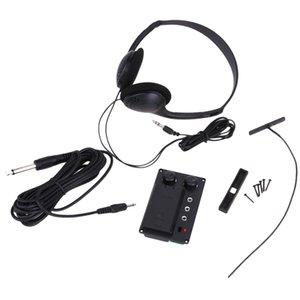 설정 바이올린 EQ 피에조 픽업 프리 앰프 w / 헤드폰 플러그 전기 바이올린 Instrumnent ACCS