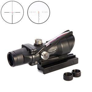 Trijicon Jagd Rifle ACOG 4X32 Echtfaseroptik Red Illuminated Chevron Glas geätzte Absehen Tactical Optical Sight