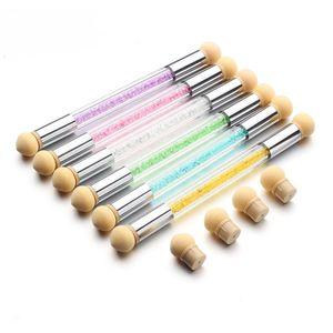 Nail Art Powder Brush Сменные губки Ombre фадиентно Pen UV Gel польский Bloom Rhinestone Ручка Штамповка инструмент