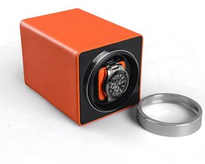 Forma LiSCN madera automático silencioso Watch Winder irregular cubierta transparente con la caja del reloj de la caja de enchufe de la UE de lujo del reloj automático