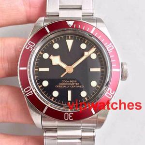 Новые Tudorrr Мужские часы из нержавеющей стали с автоматическим механизмом Механическая красная рамка Черный циферблат ROTOR MONTRES Твердые застежки Женские часы Reloj