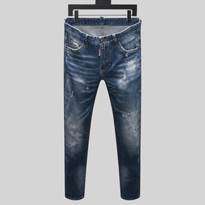 20SS Brand New Mens Designer Jeans Distressed Zipper Hole Men Jeans High Quality Casual Jeans Men Skinny Biker Pants M2#3.36