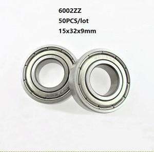 50 pçs / lote 6002ZZ rolamento 6002Z 6002 Z ZZ 15 * 32 * 9mm blindado rolamento de esferas de sulco profundo 15x32x9mm