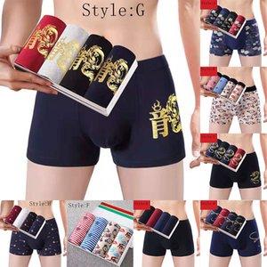 Men's Underwear Boxer Briefs Cotton Classics Long Leg Underwear for Men 4 Pack