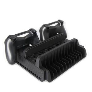 PS4 SLIM PRO All-in-one Charging Base Bracket Handle Charger Cooling fan Disc Holder TP4-882 for Playstation 4 Slim Pro Games