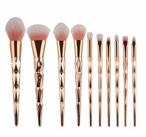 10pcs set Makeup Brush Set Professional Blush Powder Eyebrow Eyeshadow Lip Nose Rose Gold Blending Make Up Brush Cosmetic Tools