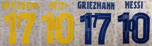 2019-2020 F.DE JONG GRIEZMANN PIQUE COUTINHO ARTHUR SUAREZ MESSI O.DEMBELE VIDAL I.RAKITIC TER STEGEN nameset patch badge