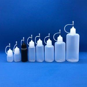 Vape liquide aiguille Bouteilles 3ml 5ml 10ml 15ml 20ml 30ml 50ml 60ml E Jus bouteille vide avec des conseils en métal pour Vape O