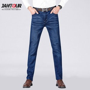 Jantour 2019 New Mens Jeans Lässige Jeans Regular Fit Straight Leg Elastizität Stretch Mode Lange Hosen Big Size 28-40