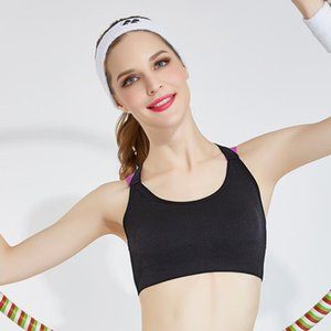 Cross Strap Zurück Frauen Sport-BH Professionelle Quick Dry Padded Stoß- Gym Fitness Jogging Yoga Sport Brassiere Tops