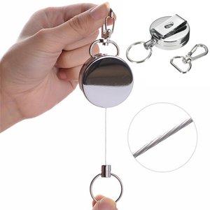 Catena portachiavi a forma di anello retrattile sportivo antifurto con portachiavi elastico portachiavi a fune d'acciaio