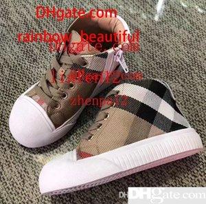 Jungen Turnschuhe Baby Mädchen Marke Schuhe Schuhe Kinder Segeltuchschuhe Schuhe Sportschuhe Plaid Seite Krawatte Kinder Schuhe xd-16