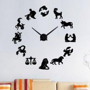 new arrival Quartz clocks fashion watches 3d real big wall clock acrylic mirror sticker diy living room modern decor Clocks Home Dcor charac