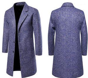 Length Woollen Coat Coats Designer Apparel Mens New Fashion Designer Woolen Coat Single Breasted Jackets Mandarin Collar Medium