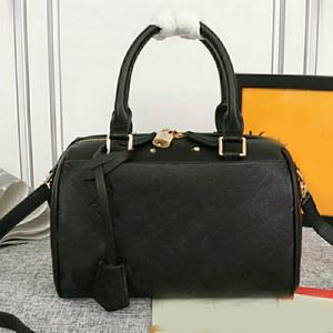 حقيبة يد المرأة الأكثر مبيعا حقائب الكتف الأزياء قديم زهرة جلدية التعامل مع النقش L رسالة حقيبة زيبر قفل حزام الكتف القابل للإزالة