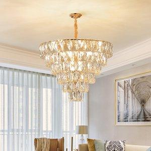 مصابيح قلادة تصميم جديد الفاخرة الحديثة يتوهم الثريا الكريستال الإضاءة الذهبية والثريات الإبداعية أضواء LED للمعيشة غرفة نوم وغرفة