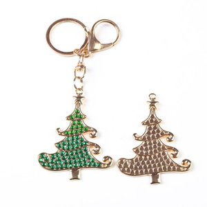 DIY Full Drill Diamond Painting Key Ring Christmas Tree Bag Necklace Ornament