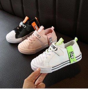 2020 novos das sapatas da placa filhos meninos outono Biscuit sapatos das meninas sapatos de bebê shell couro cabeludo casuais