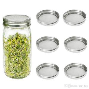 Tapas de brotes para tarros de albañil de boca ancha / regular Tarro de conservas Kit de tapa de tarros de brote de acero inoxidable Germinador de brotes Set para cultivar brotes