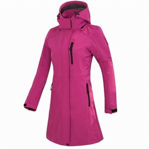 Donna Softshell Fleece Long Jacket Windproof Outdoor Casual Windbreaker Trekking Campeggio Trekking Arrampicata sportiva femminile Cappotti