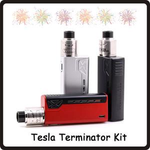 Tesla Terminator Kiti 90 W TC Başlangıç Kiti VW 18650 Pil Kutusu Mod Antman 22 RDA Atomizer DHL Ücretsiz