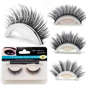 Self-adhesive 3D False Eyelashes 12MM 14MM 17MM Reusable No Glue Needed Sexy Natural Thick Long Handmade Dramatic Eye Lashes Extensions