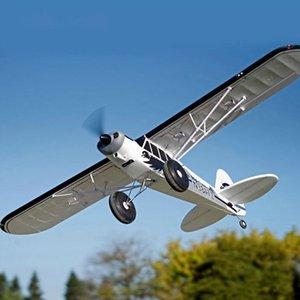 FMS Avião RC Plane 1700mm 1.7M PA-18 J3 Piper Super Cub 4S 5CH com giroscópio Balance Auto PNP instrutor Beginner Aircraft Modelo