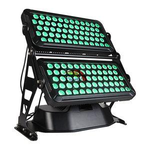 Livraison gratuite High Power Outdoor 120 * 18W RGBAW UV 6 en 1 IP65 Wall Washer LED City Color avec flight case