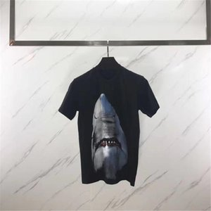 Herren-Stylist-T-Shirt Men Kurzarm 3D Tier Shark-Druck-T-Shirt Frauen Camisa Masculina Stylist-T-Shirt