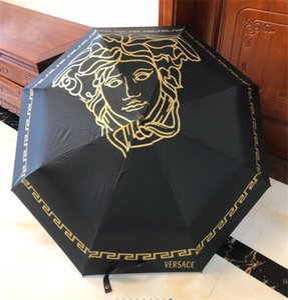 الشارع الأسود المظلات مع صندوق التلقائي للطي المظلات السفر في الهواء الطلق وقاية من الشمس غير نافذ للمطر هل يجب موضة المظلات انفجار