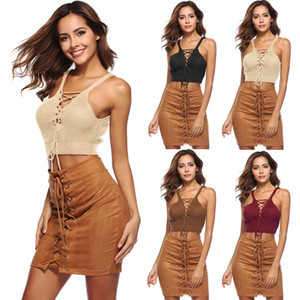 Summer Sexy Women Crop Top Crochet Knit Bracelet Bra Vest Halter Crop Débardeurs Vêtements Gilet