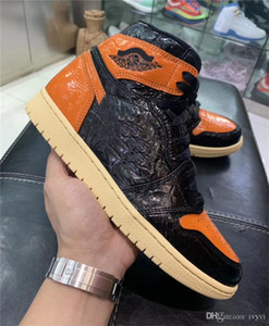 Arkalık 3.0 Orijinal Kutusu 555088-028 ile Sneakers 1S Erkek Otantik Kalite Basketbol Ayakkabı Gerçek Deri Shattered 2020 Release 1 Yüksek OG