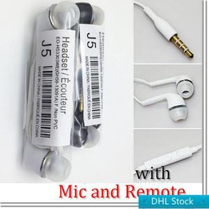 DHL Stock DHL для Samsung Galaxy S4 3,5 мм стерео гарнитура наушники наушники с MicRemote Volume Control J5 В Ear стерео наушники-вкладыши