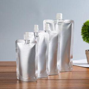 500pcs Doypack 150 ml 250 ml 350 ml 500 ml del papel de aluminio Stand Up Boquilla líquida del paquete del bolso Bebidas, Squeeze, beber de la bolsa del canalón