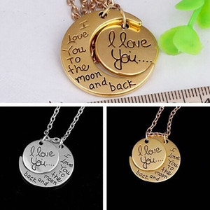 Moon Necklace I Love You To The Moon and Back per la mamma sorella famiglia ciondolo a maglia catena favore regali DHL libero WX9-1230