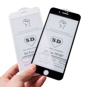 Retail 5D Tempered Glass for iPhone XS MAX XR Screen Protector Phone Protective Protector on the for iPhone x 6s 7 8 Plus