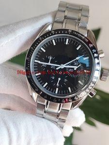 TOT Top High Quality Watch CO-Axial Planet Ocean Master 311.30.42.30.01.006 VK Cronógrafo de cuarzo Trabajo Working Steel Wristwatches Mens Relojes para hombre