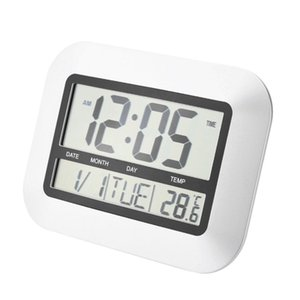 Hot Self Setting Digital LCD Home Office Decor Wall Clock Indoor Temperature YW