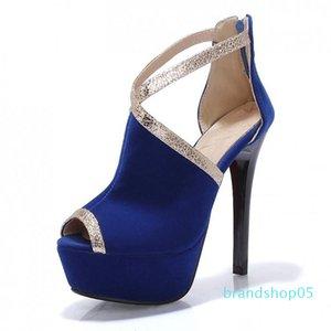 Mulher Fairy2019 Forro do metal Dividir Xi Joint Shi Sandals Super High boca de peixe sapatos sem moldura 6294-1