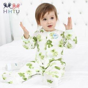 Htu macacão de bebê roupas de manga comprida macacões para recém-nascidos menino menina macia macacões de bebê roupas de lã para o outono / inverno Y19061201