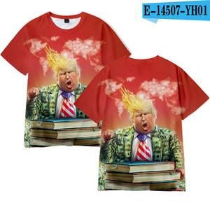 Erkekler Kadınlar Donald Trump 2020 Tişört O-Boyun ABD Seçim Kısa Kollu Gömlek Trump Komik Tişört boyutu LJJA4070 üzerinde Tee Shirt