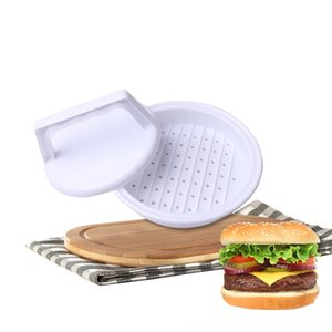 1 Set Plastic Round Hamburger Meat Bakeware Kitchen, Dining & Bar Pie Mould Manual Meat Maker Presses Pie Tool DIY Grill Cooking Kitchen Gad