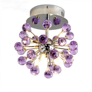 K9 LED Crystal Chandelier Flush Mount Lámparas con 6 luces Lustres De Cristal Lustre De Crystal para iluminación de la sala de estar