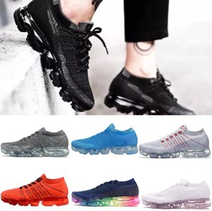 Nike Air VaporMax Nuevo 2019 vaporsmoc SER VERDADERO diseñador Hombre Mujer Zapatillas Zapatillas de correr Para Calidad Real Moda Hombre Casual Maxes Deportes chaussures Sneakers36-45