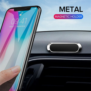 Wholesale Mini Magnetic Car Phone Holder For iPhone 11 Pro Xs Max Xiaomi Samsung Metal Magnet Mobile Phone Cell GPS Stand Car Mount