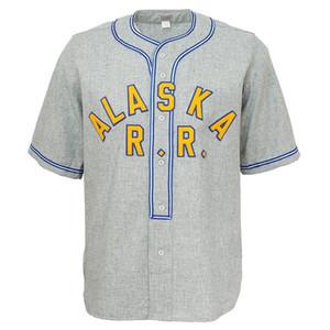 Personnalisé hommes Alaska Railroad 1948 Authentique maillot TOUT NOM OU N'IMPORTE QUEL NUMÉRO GRIS XS-5XL Livraison Gratuite