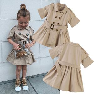 Kids Designer cappotti vestiti delle ragazze Tench bambini INS Outwear 2019 primavera cappotto autunno bambino Abbigliamento C440