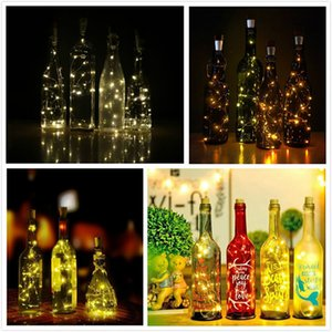 20 Leds USB Cork Bottle Lights, USB Powered Rechargeable Copper Wire String Starry LED Lights for DIY Wedding Party Decoration